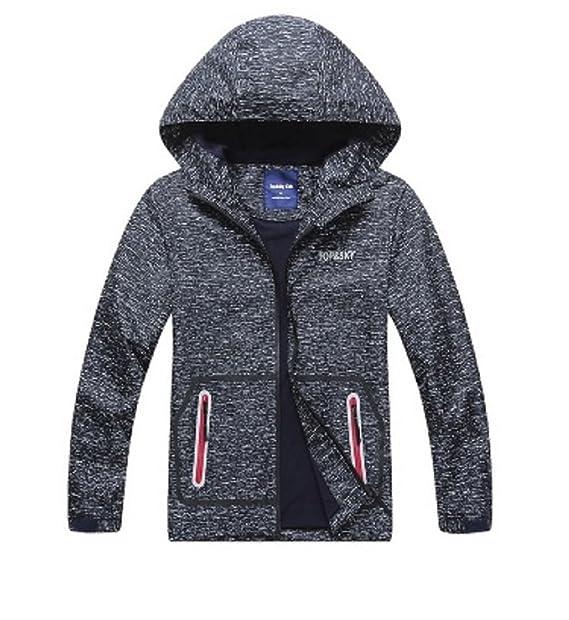 50552a2cc353 Koo-T Boys Raincoat Fleece Lined Jacket Hood Wind Breaker ...