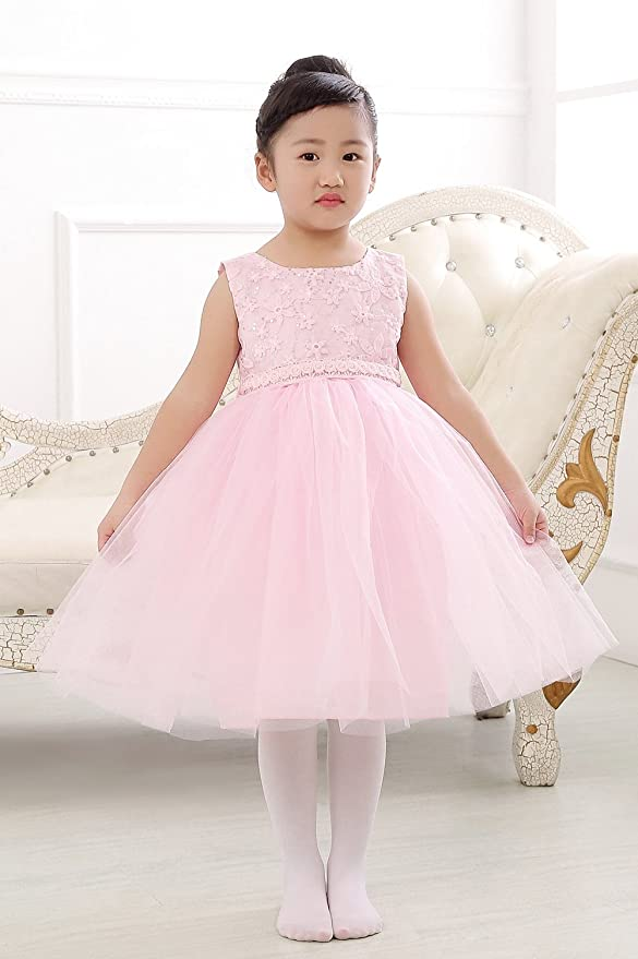 e4b5047547e Amazon.com  Merry Day Sequin Lace Tulle Flower Girl Dress-Baptism Wedding  Party Pageant Tutu for Baby Girl Toddler Little Girls 0-10T  Clothing
