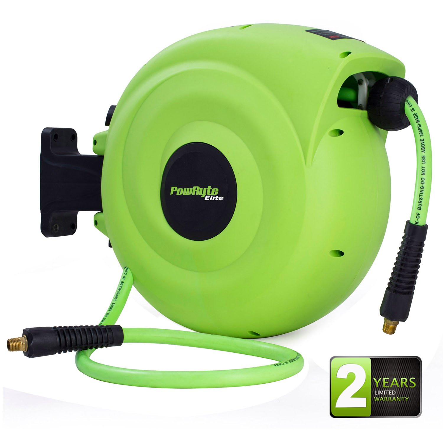 Details About Powryte Elite Retractable Air Hose Reel With 3 8 Inch By 50 Feet Hybrid Hose