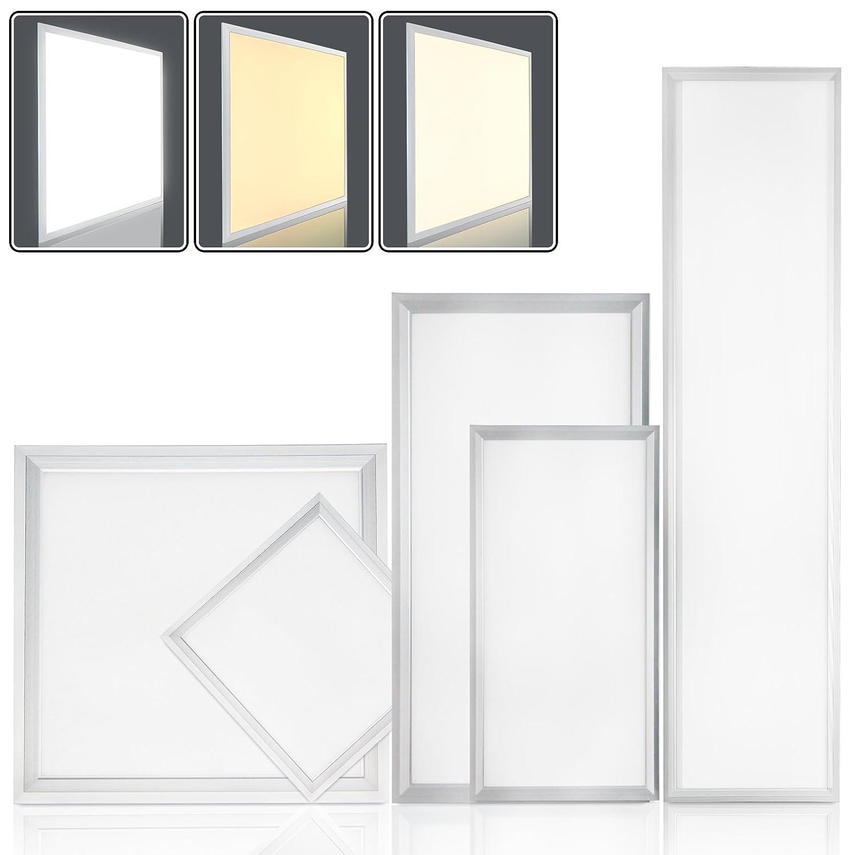 OUBO LED Panel 30x30cm Warmweiß / 18W / 1500lm / 3000K / Silberrahmen Lampe dünn SLIM Ultraslim Deckenleuchte Wandleuchte Einbauleuchten [Energieklasse A+]