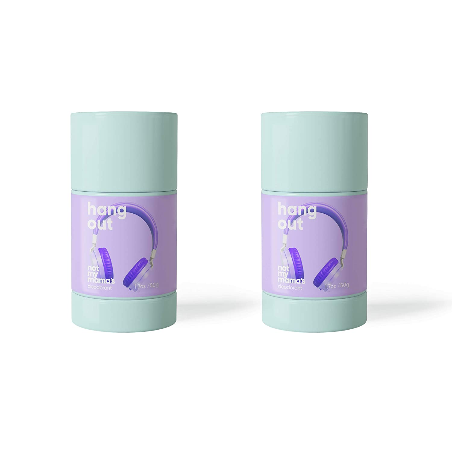 2 Pack Bundle Not My Mama's Natural Deodorant for Women and Girls in Hang Out (Lavender) Aluminum Free, Paraben Free, Synthetic Fragrance Free : Beauty