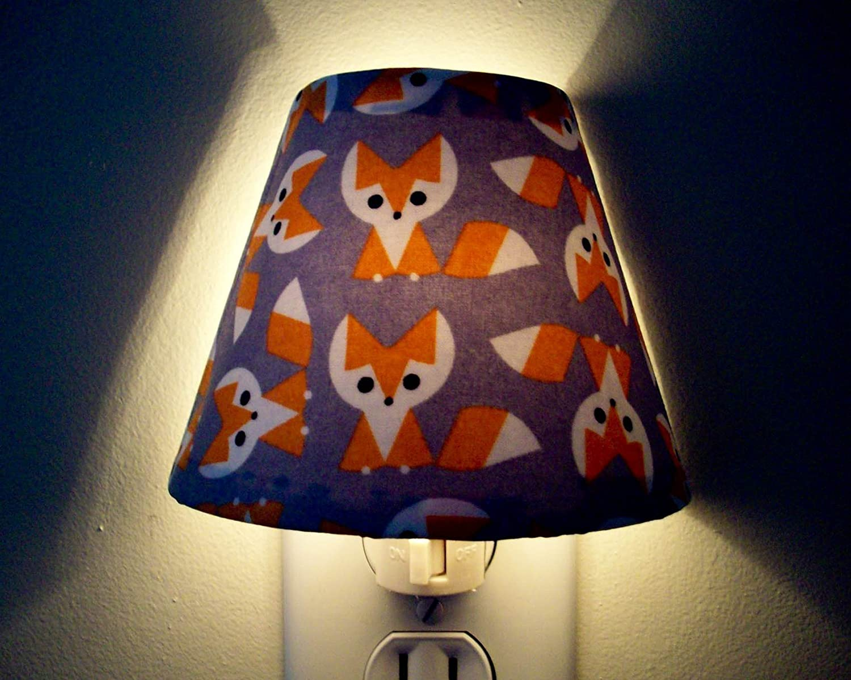 Woodland Fox Night Light Orange and Grey