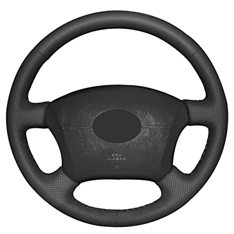 Loncky Microfiber Leather Car Steering Wheel Cover for Toyota Land Cruiser 1995-2007/Tacoma
