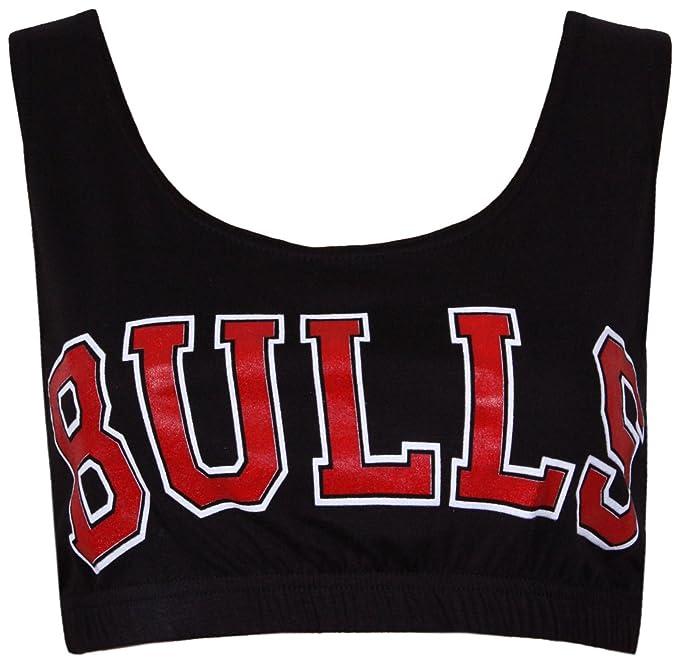 Janisramone da Donna Palestra Allenamento Chicago Bulls Pallacanestro Top  da Bralet 8 10 12 14  Amazon.it  Abbigliamento 0ceff6b7276f
