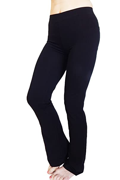 Amazon.com: n-365 algodón Spandex Lounge Yoga pantalones de ...