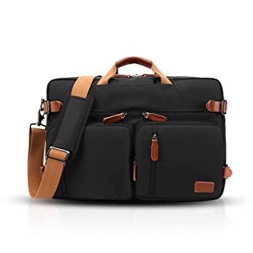 56a565d7d29c8 FANDARE Messenger Bag Umhängetasche Schultertasche 17.3 Zoll  Laptoprucksäcke Rucksack Tasche Kuriertasche Multifunktions Polyester  Schwarz