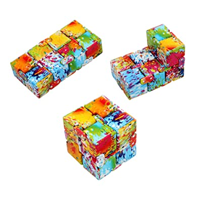Hillento Infinity Cube Fidget Cube Toy for Adults & Kids Relieve Stress & Anxiety Cool Hand Fidget Stress Toy, Killing Time Fidget Finger Toys Infinite Cube, Starry Series, Style 1: Toys & Games [5Bkhe1404011]