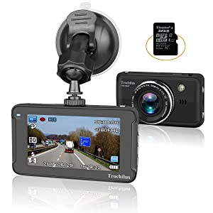 """Trochilus Dash Cam 3""""LCD HD 1080P Car Recorder 170 Wide Angle Night Vison Dashboard Camera with G-Sensor, Loop Recording, WDR, Parking Guard"""
