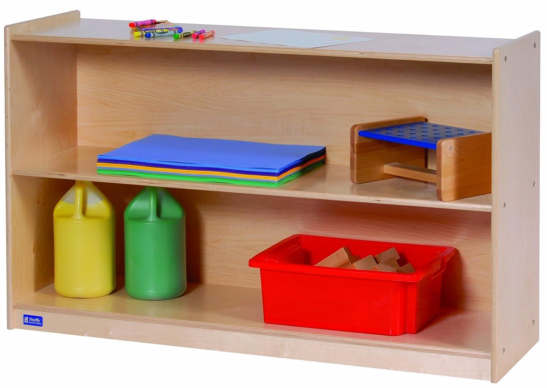 amazoncom steffy wood products 30inch by 48inch wide 2shelf mobile storage kitchen u0026 dining