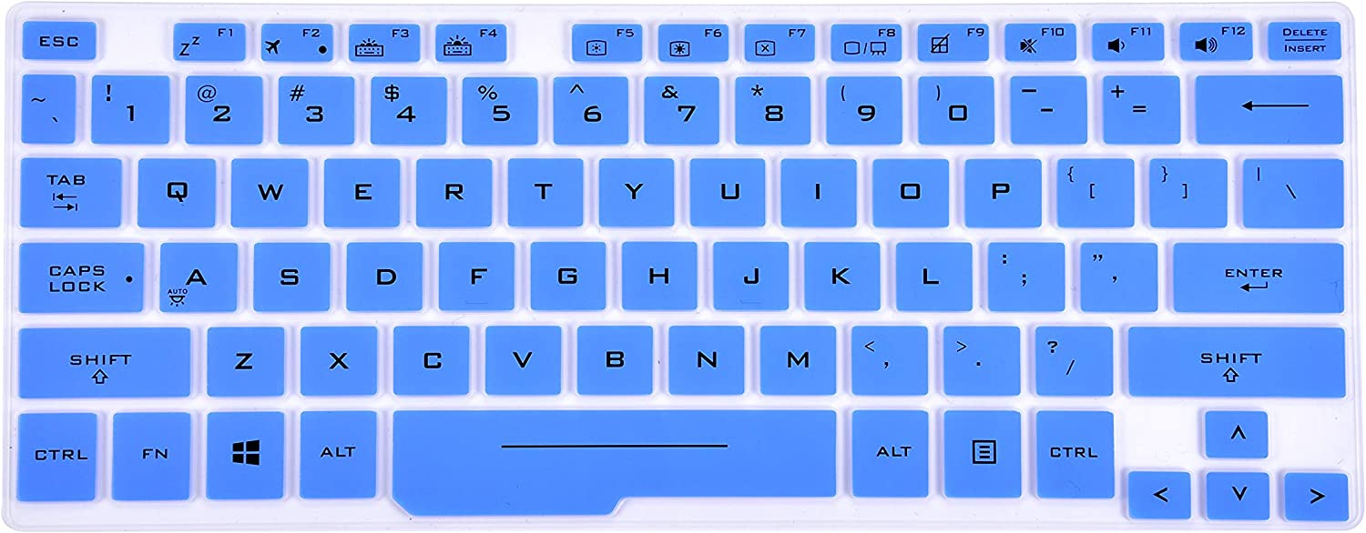 Leze - Ultra Thin Keyboard Cover for Asus ROG Zephyrus GX501 GX531 GX701 Ultra Slim Gaming Laptop - Blue