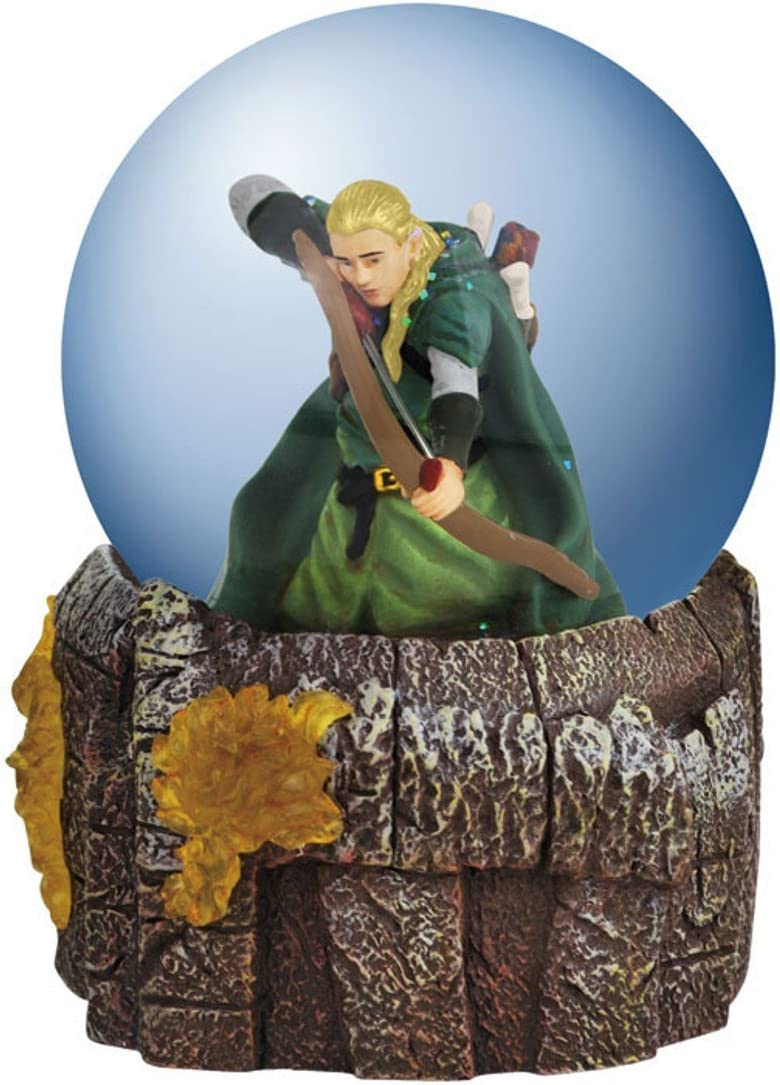 Westland Giftware Light-Up Water Globe Figurine, 100mm, Lord of The Rings Legolas in Battle