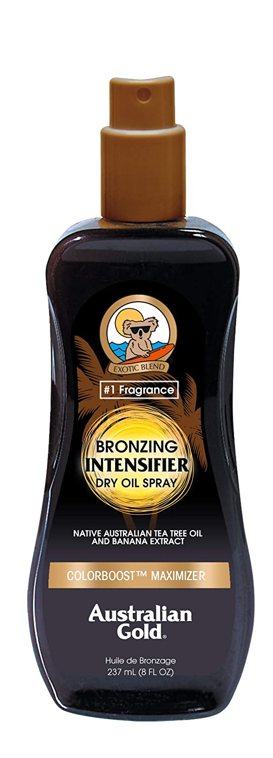 Australian Gold Bronzing Intensifier Dry Oil Spray, 8 Ounce | Colorboost Maximizer