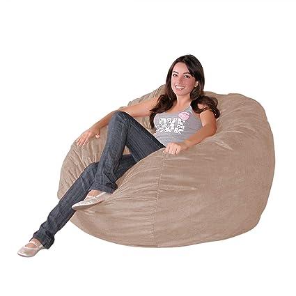 Amazon.com: Cozy Sack Puf grande, de 3 pies, Microfibra ...