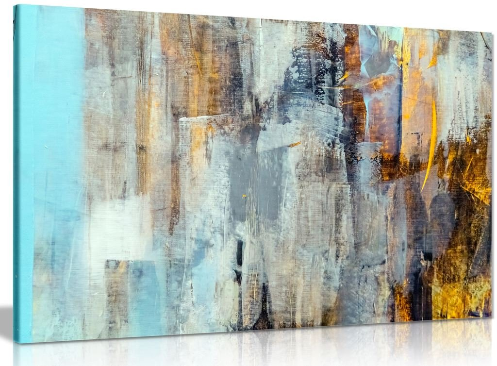 Abstract Modern Contemporary Home Canvas Wall Art Picture Print (36x24in)