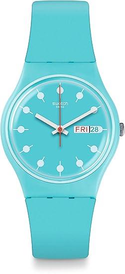 Swatch Reloj Digital para Unisex de Cuarzo con Correa en Silicona GL700: Amazon.es: Relojes