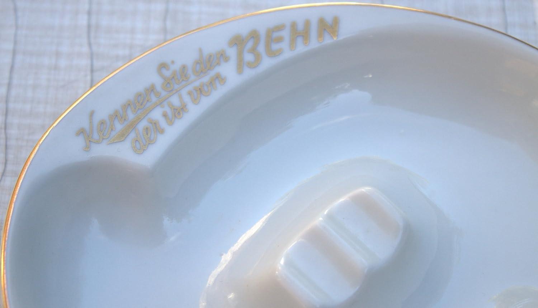 Werbe-Aschenbecher Behn Getränke Whisky-Kirsch Porzellan 50er 50s ...