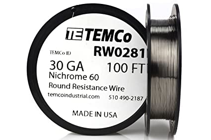 Temco nichrome 60 series wire 30 gauge 100 ft resistance awg ga temco nichrome 60 series wire 30 gauge 100 ft resistance awg ga greentooth Images