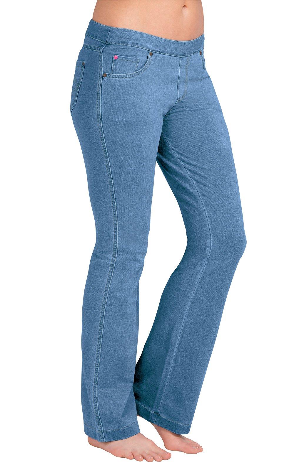 PajamaJeans Women's Petite Bootcut Stretch Denim Jeans, Bermuda, X-Large 16-18