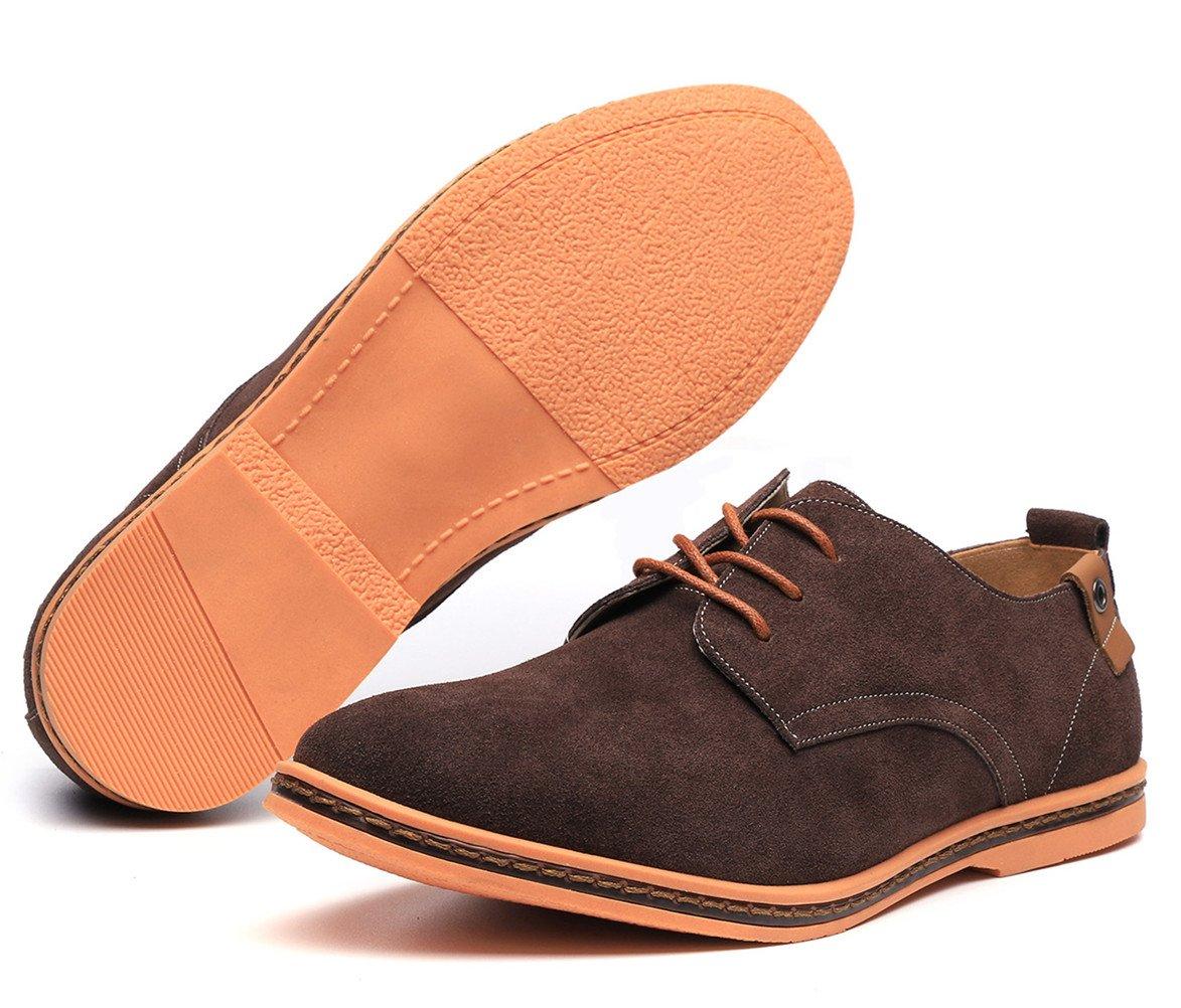 Dadawen Men's Brown Leather Oxford Shoe - 11 D(M) US by DADAWEN (Image #3)