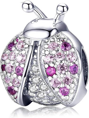 Charms Bead, Marienkäfer Charm Crystal Blessing Pink Beads Anhänger passen  Pandora Armband und Halskette Accessoires Schmuck Geschenk für Damen und ...