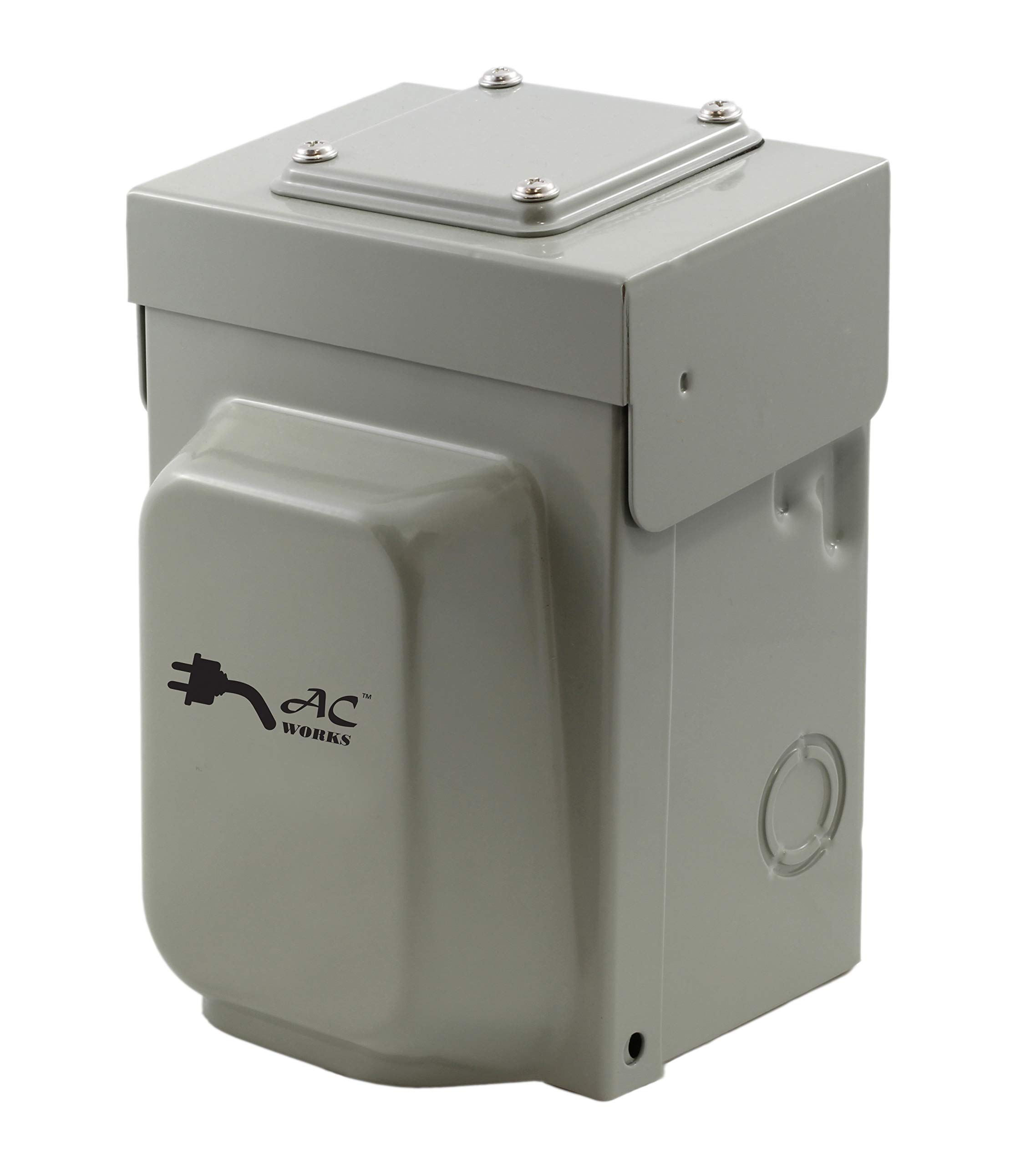 AC WORKS Super Durable Industrial Grade Locking Power Input Inlet (L14-20 Metal Box) by AC WORKS