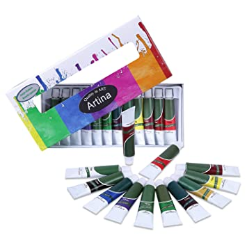 Artina Crylic Acrylfarben Set 12x12 Ml Kunstlerfarben Hochwertiges