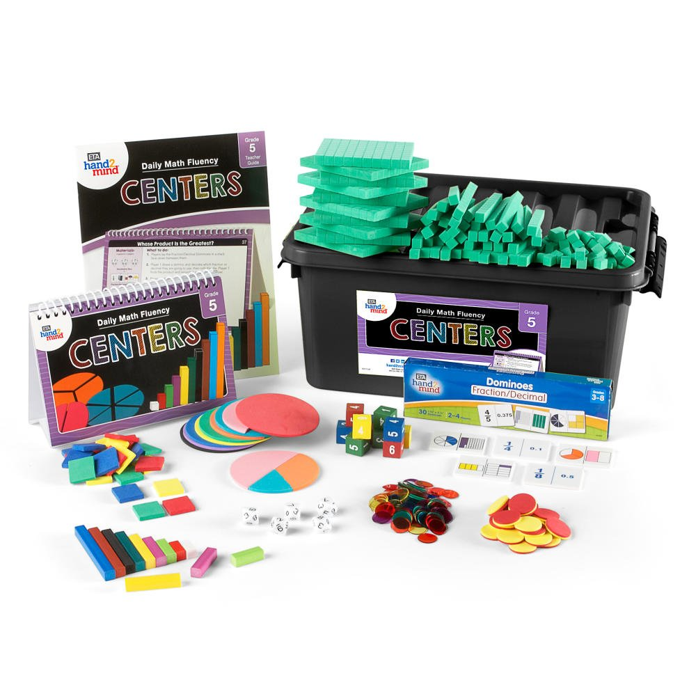 Daily Math Fluency Classroom Center Kit for Kids (Grade 5+) - Multiply Up, Partial Quotients, Factor, and Group Flexibility