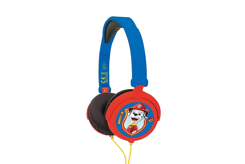 Lexibook - Pat Patrouille Chase Marshall Casque Audio sté ré o, Puissance sonore limité e, Pliable et Ajustable, Bleu/Rouge, HP015PA Puissance sonore limitée