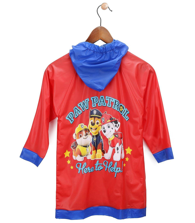 Nickelodeon Little Boys' Paw Patrol Waterproof Outwear Hooded Rain Slicker - Toddler