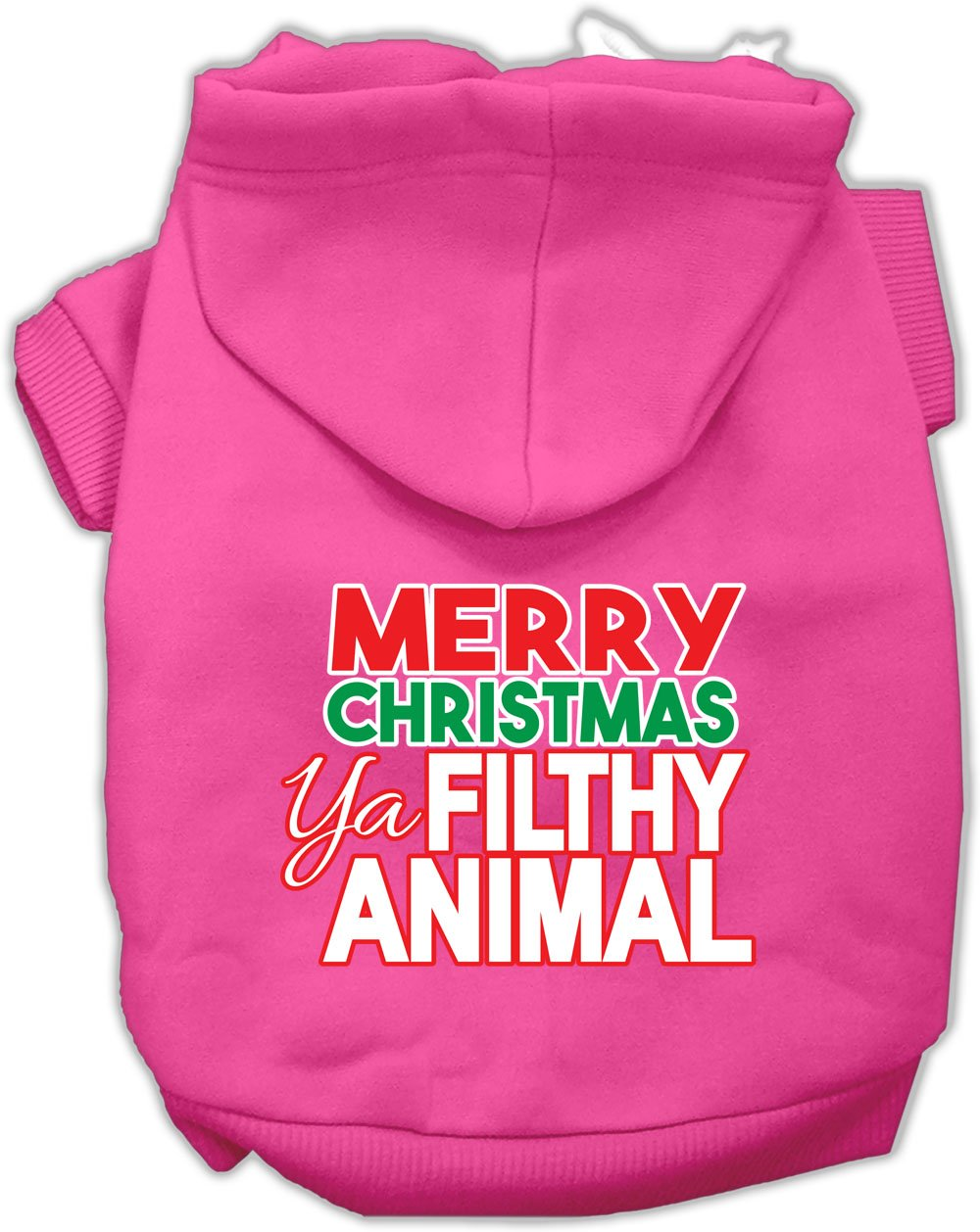 Mirage Pet Products 62-148 MDBPK Ya Filthy Animal Screen Print Bright Pink Pet Hoodie, Medium