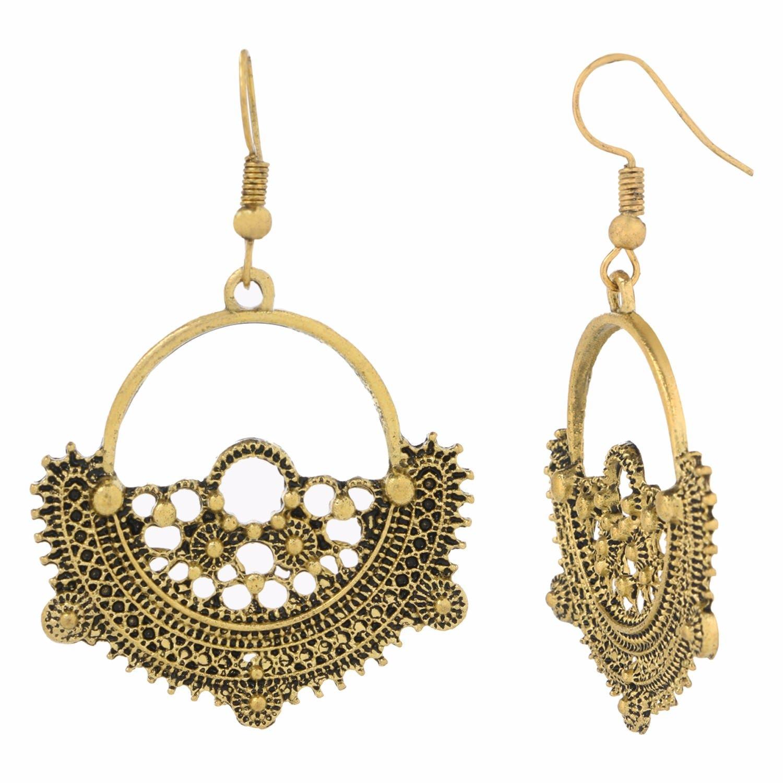 c8da6e025 Efulgenz Boho Jewelry Indian Oxidized Gold Vintage Retro Ethnic Dangle  Tribal Tibetan Gypsy Dangle Earrings for Girls Women