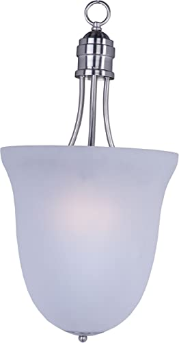 Maxim 10048FTSN Logan Modern Frosted Glass Pendant Ceiling Light