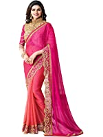 Macube Sarees for Women Latest Design Sarees New Collection 2018 Sarees below 1000 Rupees 500 Rupees Sarees for Women Partywear Latest Design Wedding Collection Sarees for Women below 500 Latest sarees for Women Party wear Offer Designer Sarees Saree Combo Sarees New Collection Today Low Price (Macube Women's Georgette Saree With Blouse Piece)
