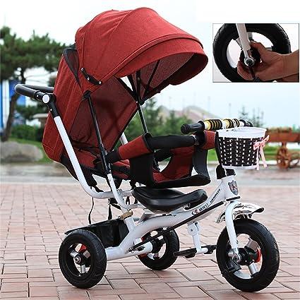 4-en-1 Childrens Tricycle Paw Patrol, | Plegable | Amortiguación | Trolley