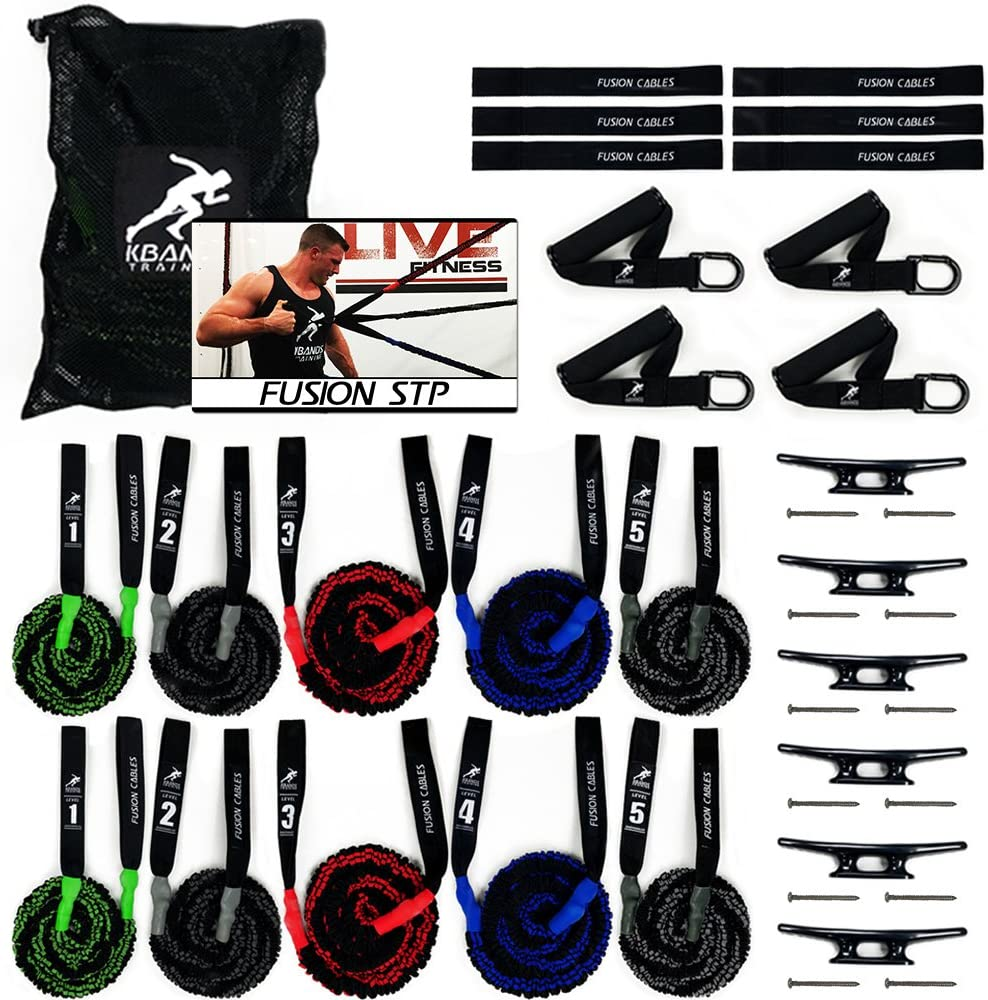 Kbands Fusion Cables Training System for Shoulder Health and Body Strength - Build A Stronger Core, Arms and Rotator Cuff