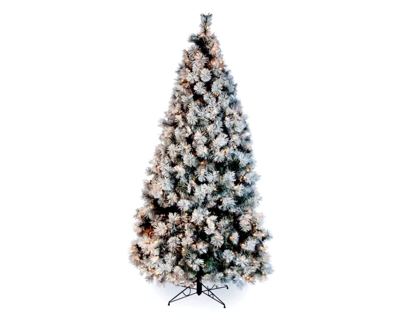 Artificial Christmas Tree. Fake Xmas Green Fir With Dense, Lush Foliage, Elegant, Realistic, Frosted Design Branches, Noble, Festively Look. Great For Indoor Holiday Season Party Decor. (9 Foot)
