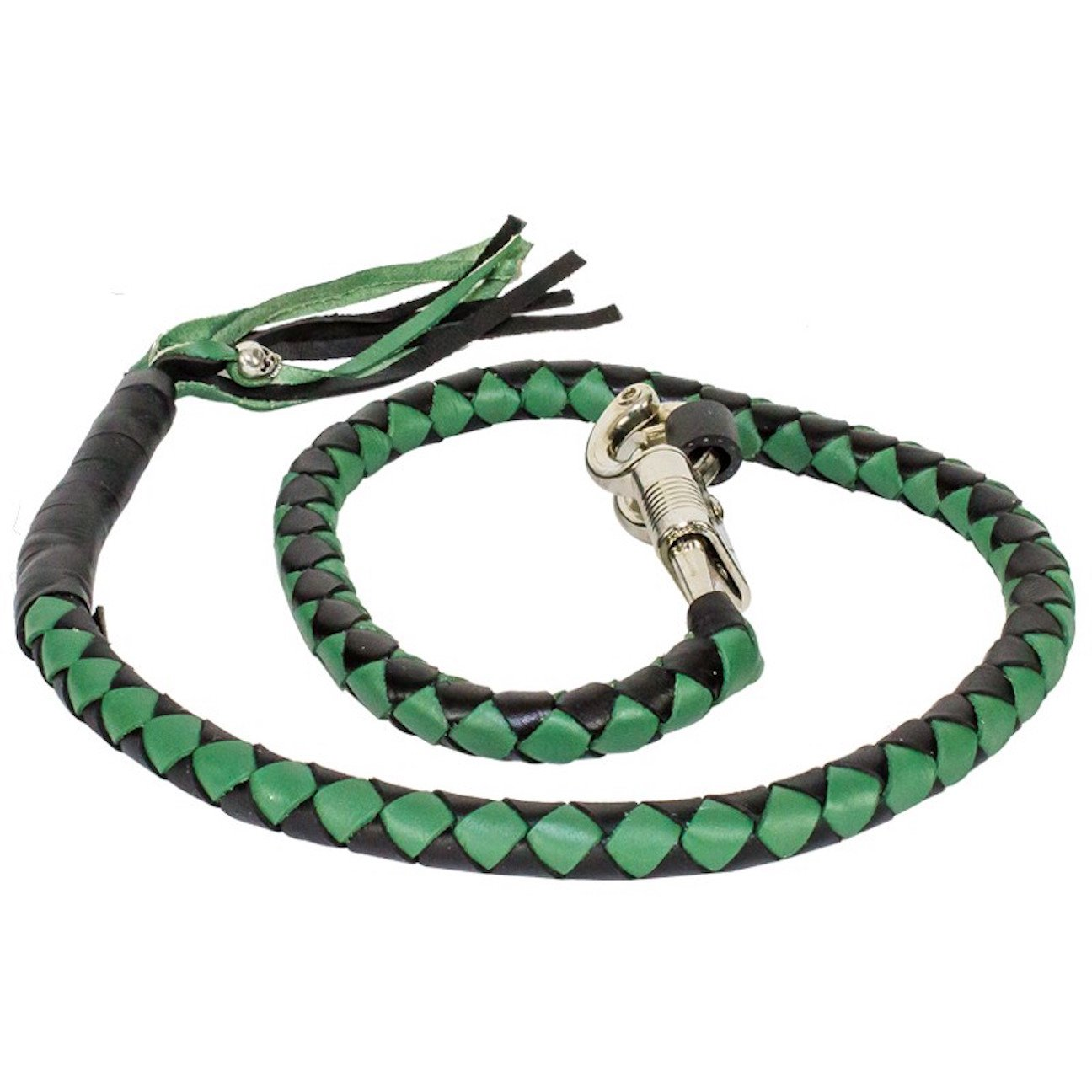 Black And Green Get Back Whip For Motorcycles