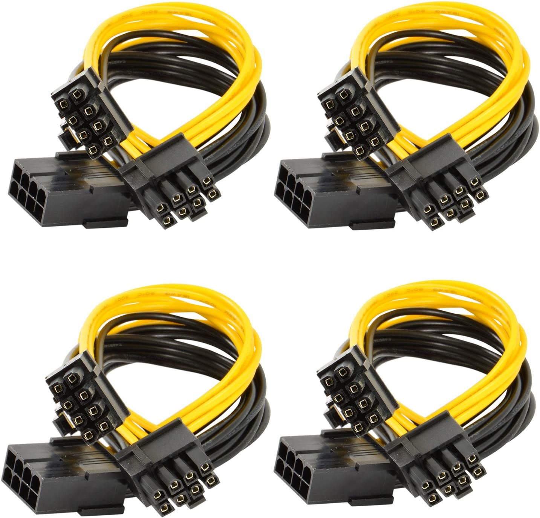 Pin Video Card PCI-e GPU VGA Y-splitter Hub Power Cable GPU to GPU 6+2 5Pack Motherboard Graphics 6 Pin to 8 pin Pcie Adapter 6Pin PCI Express to 2 X PCIe 8