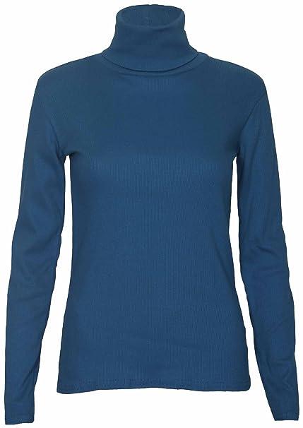 Jersey elástico de manga larga para mujer 36106d1cf16c