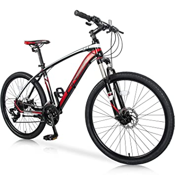 Dual Suspension Mountain Bikes With Free 14 Day Test Ride >> Merax 26 Mountain Bicycle With Suspension Fork 24 Speed Mountain Bike With Disc Brake Lightweight Aluminum Frame