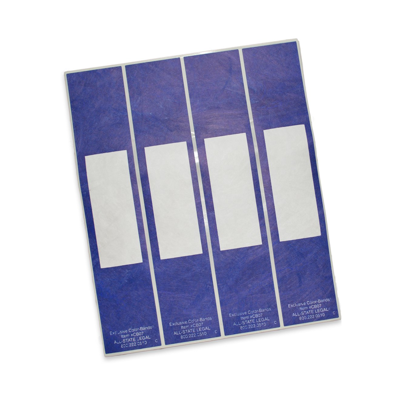 Color-Bands Color Coding File Handles and Labels for Expandable File Pockets and Wallets, Navy, 100 per Package by ALL-STATE LEGAL