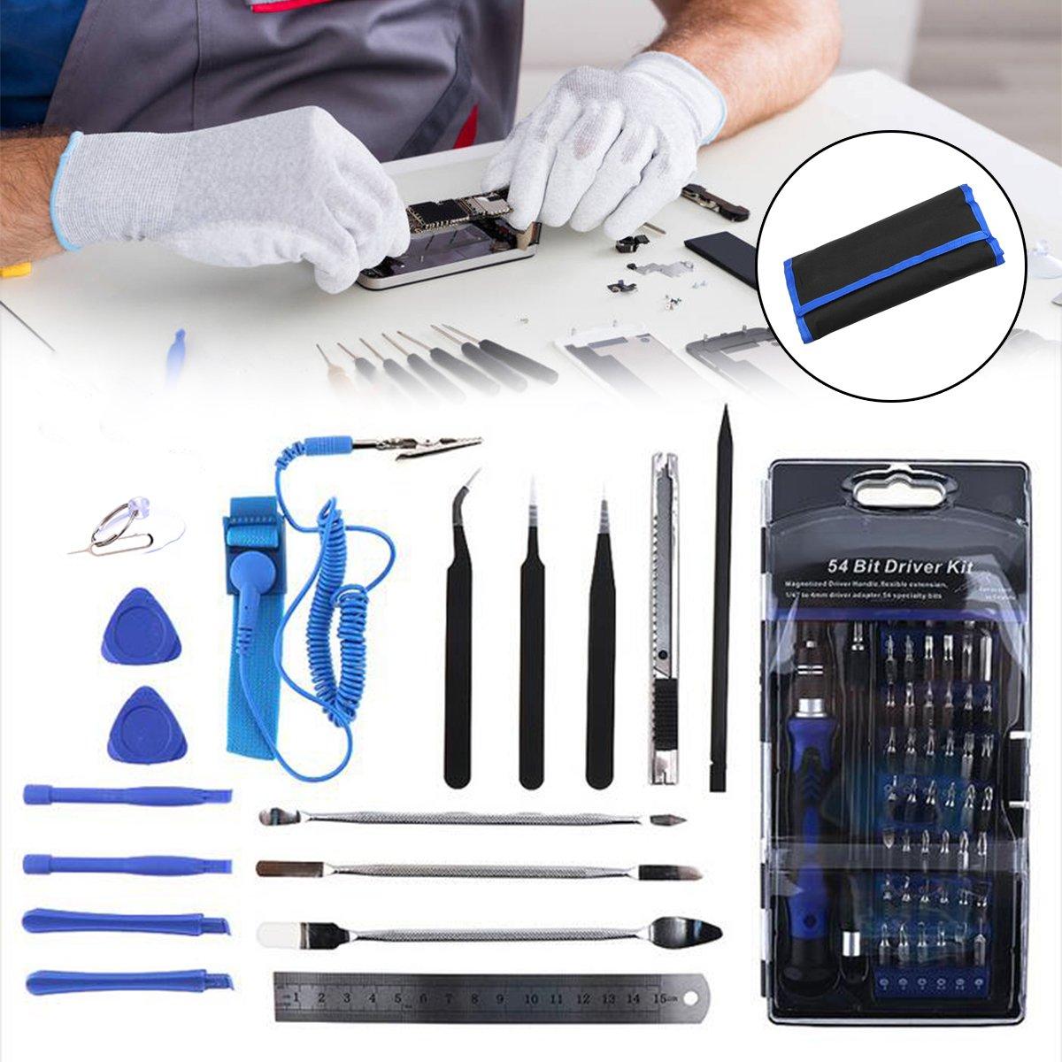 OlogyMart 75 in 1 Screwdriver Socket Bit Set Kit + PC Phone Repair Opening Tool Kit Ruler Tongs