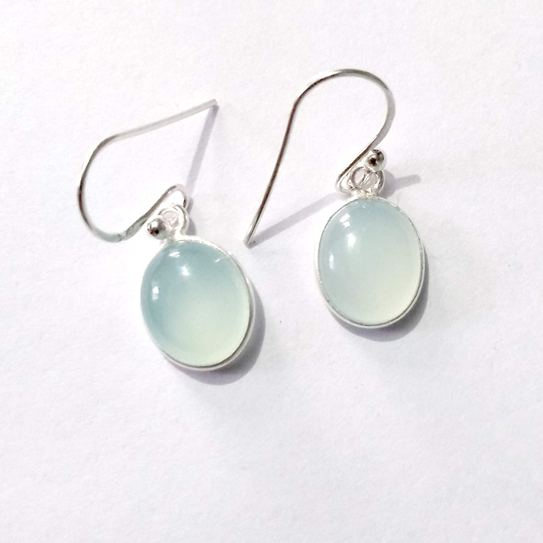 6bfd839e1 Amazon.com: Chalcedony Sterling Silver Earrings Gift for Her, Simple  Beautiful Earrings for Women, Handmade Earrings, Available in More Gemstone  Earrings: ...