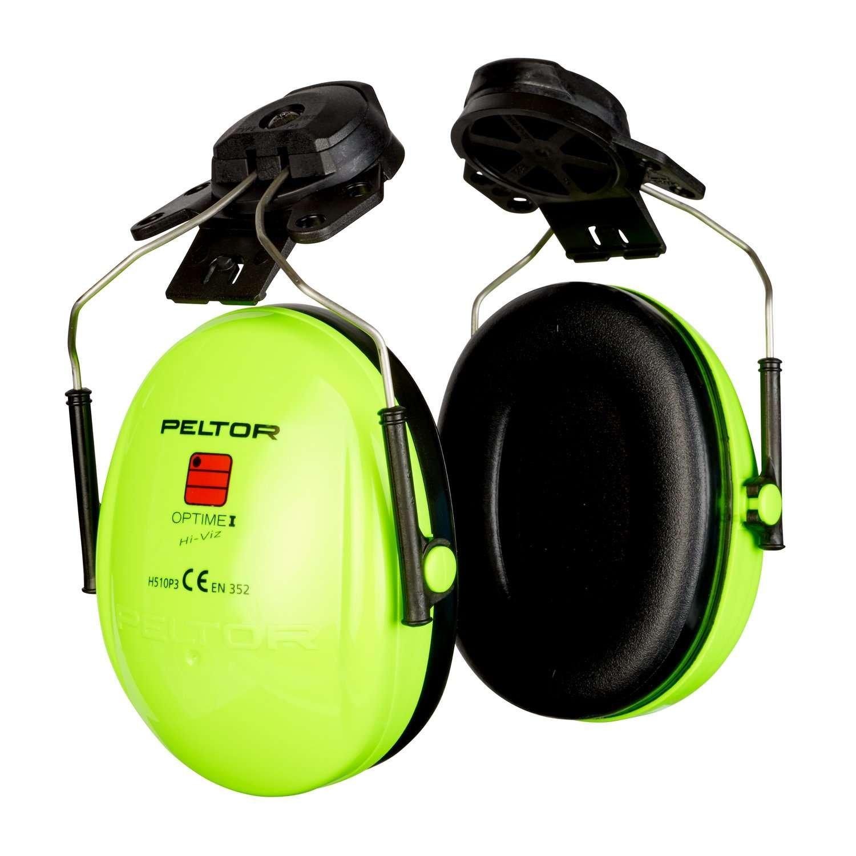 3M PELTOR Optime I Orejeras para casco Alta Visibilidad 26 dB (1 orejera/caja), H510P3E-469-GB: Amazon.es: Industria, empresas y ciencia