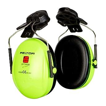 3M PELTOR Optime I Orejeras para casco Alta Visibilidad 26 dB (1 ...