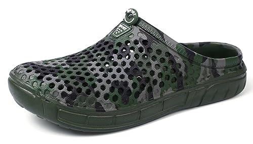 Unisex Men Women Garden Clogs Shoes Casual Slippers Summer Quick Drying Anti-Slip Beach Walking Sandals