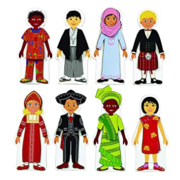 amazon com discount school supply magnetic multicultural dressing