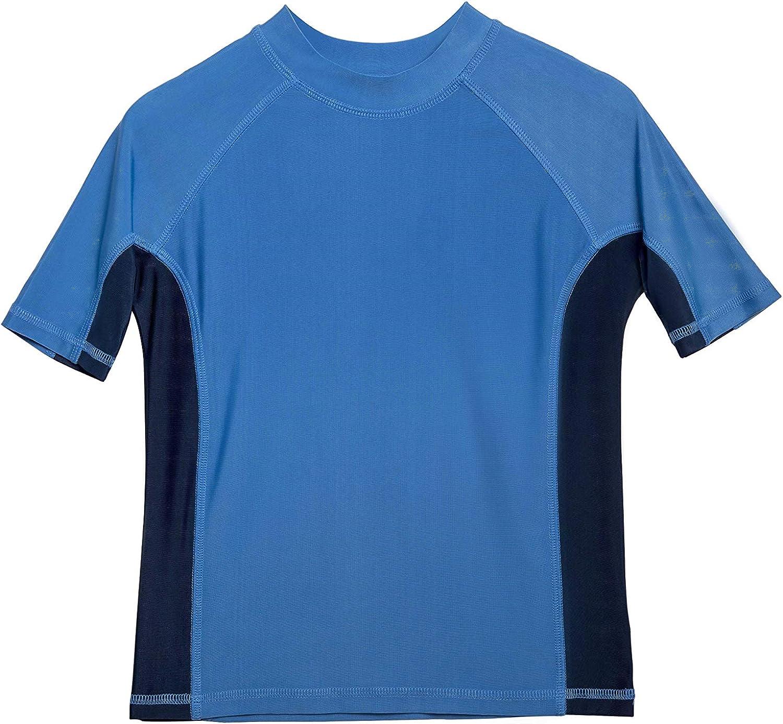 Sun Protective Rashguard Swim Shirt Boys Short Sleeve UPF 50