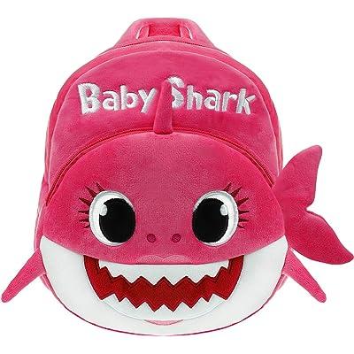 Cartoon Shark Backpack - Pink | Kids' Backpacks
