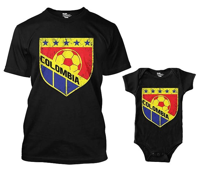 Amazon.com: Colombia retro con imágenes de fútbol Crest ...